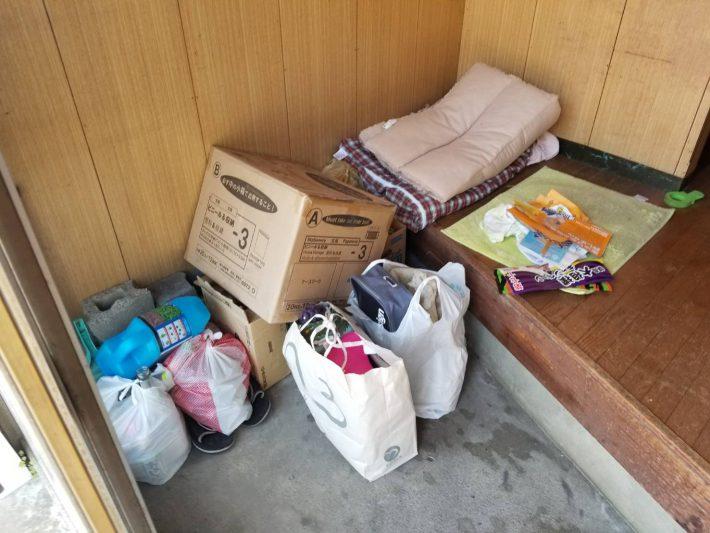 粗大ゴミ片付け_岡山市北区石関町_作業前の玄関