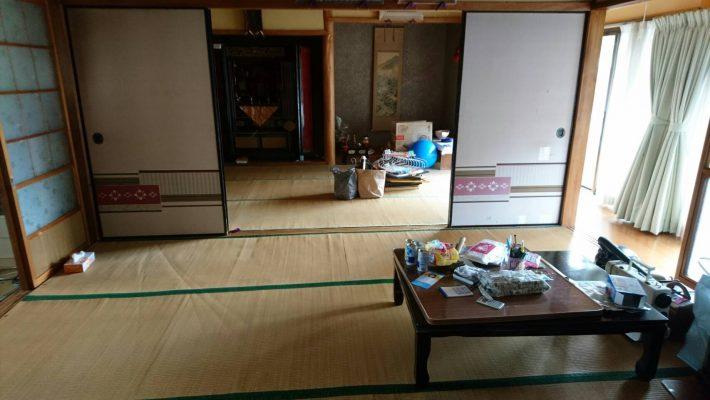 粗大ゴミ片付け_岡山市北区芳賀_作業前の和室