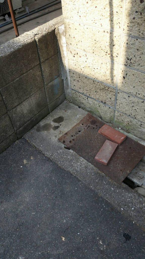倉敷市老松の粗大ごみ回収_エアコン回収後2
