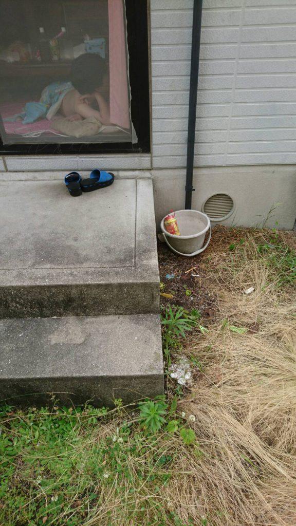 岡山市中区湊_玄関の粗大ゴミ片付け後