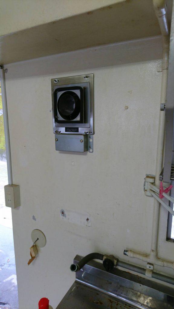岡山市中区湊_片付け後のガス給湯器