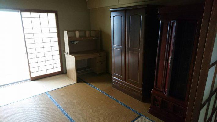 粗大ゴミ廃品処分_岡山市北区川入_作業前和室