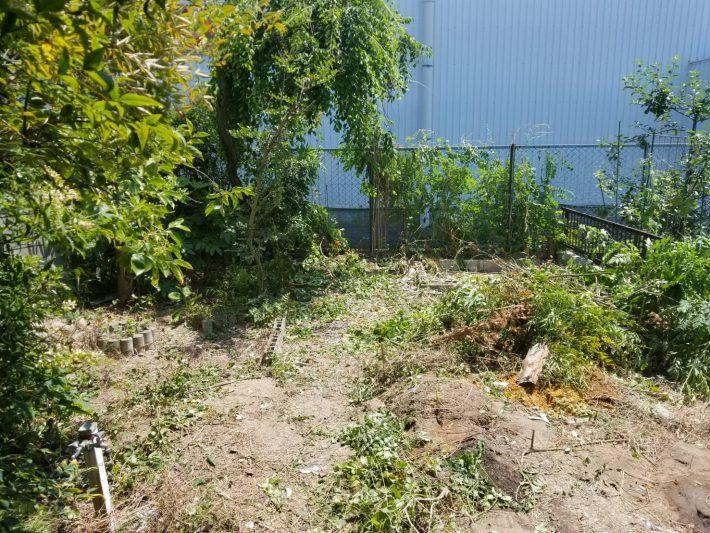 粗大ゴミ片付け_岡山市北区石関町_作業後の畑