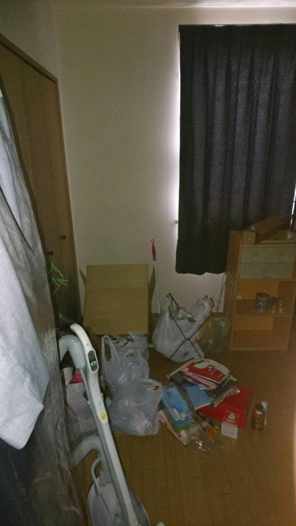 粗大ゴミ片付け_岡山市北区日応寺_片付けた後の寝室