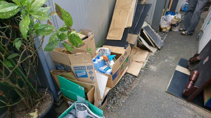 岡山市北区島田本町一丁目_粗大ゴミ回収_裏庭の粗大ゴミ